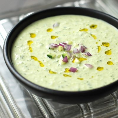 |Cold Cucumber Soup with Yogurt and Dill