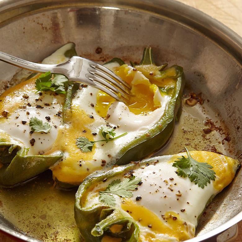 Eggs in Pepper Boats