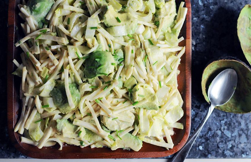 Endive Celeriac Avocado Salad