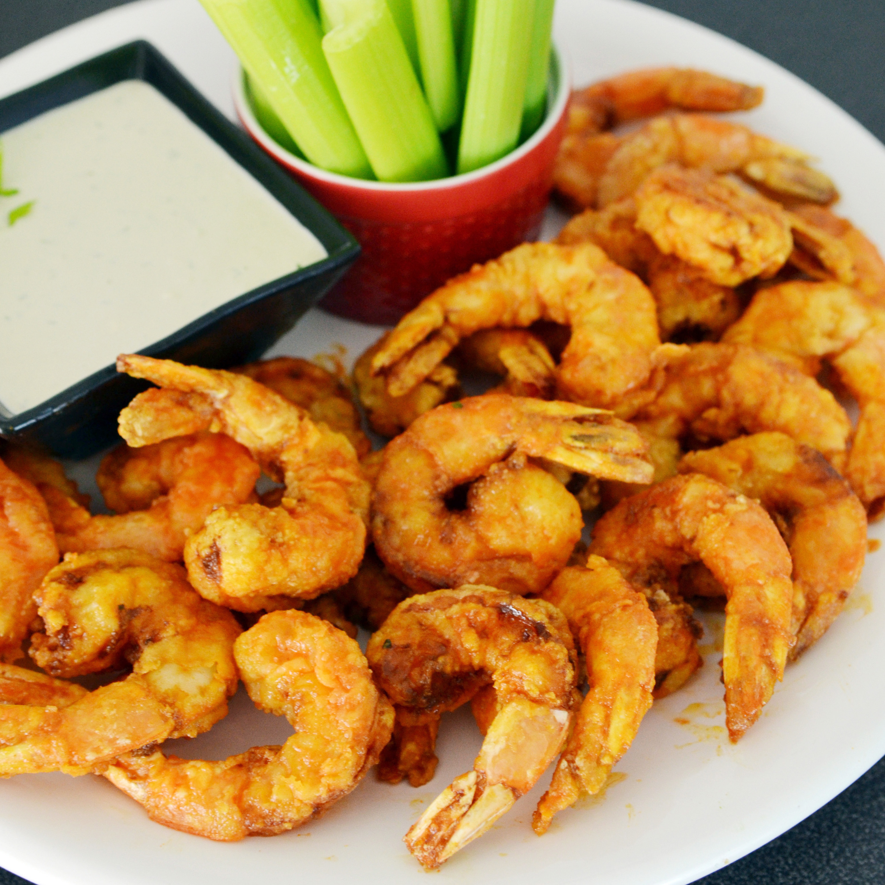 Firecracker Shrimp with Blue Cheese Dipping Sauce