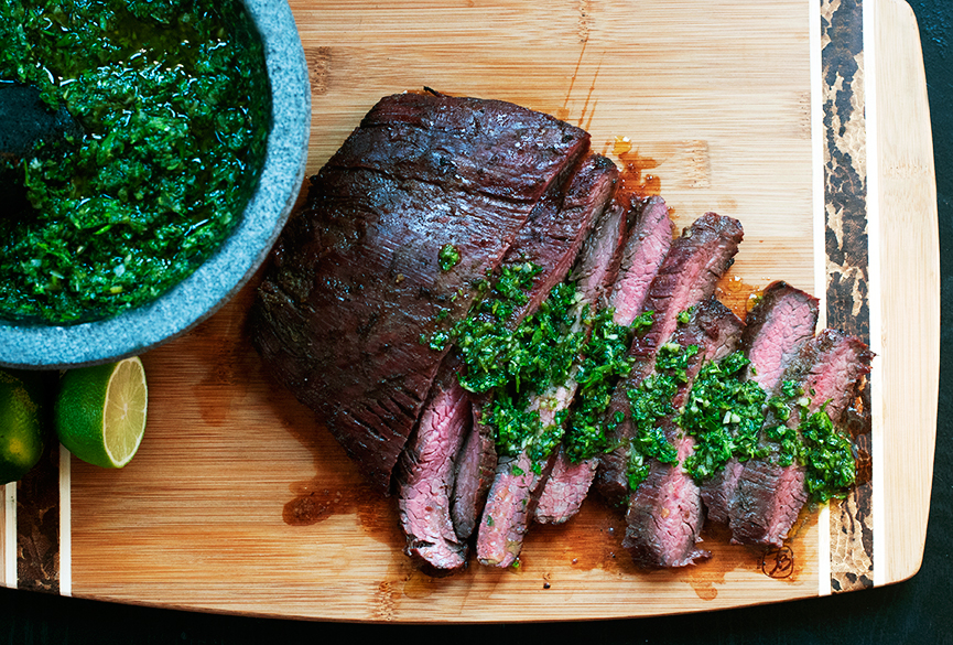 Flank-steak-with-chimichurri