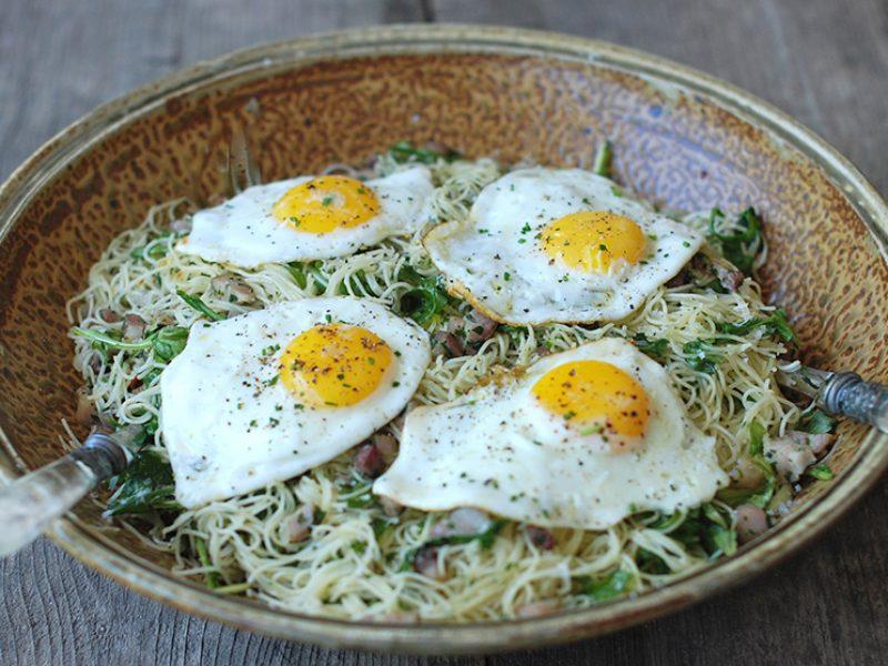 Spaghettini with Arugula