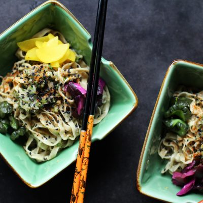 Andrew Zimmern's Ginger Scallion Noodles Recipe