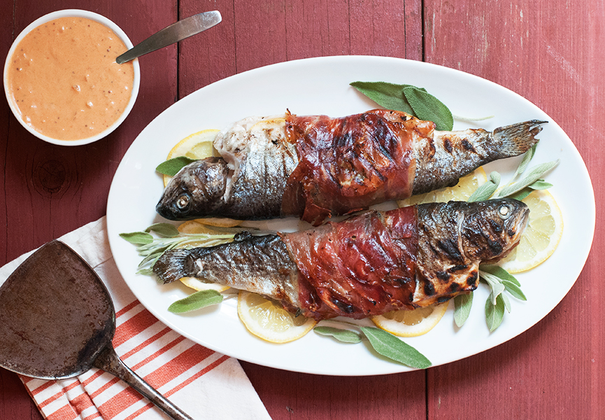 Grilled-Prosciutto-Wrapped-Trout