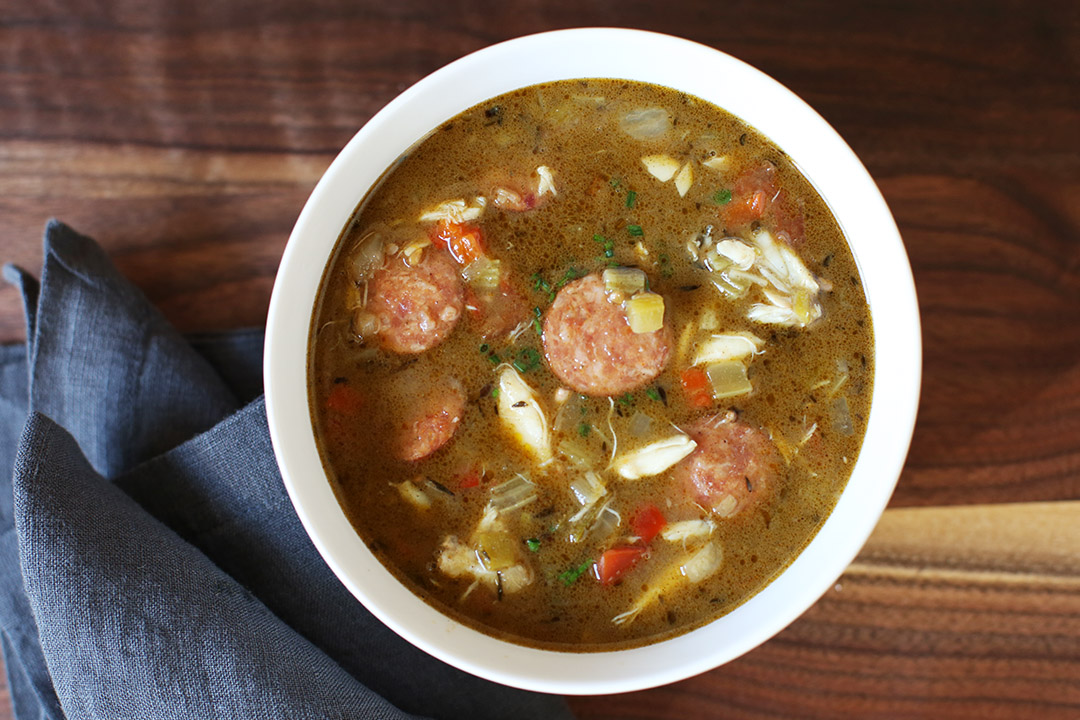 Andouille, Crab & Oyster Gumbo