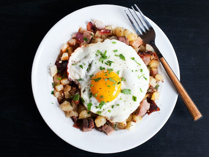 Hash with Ham & Apples