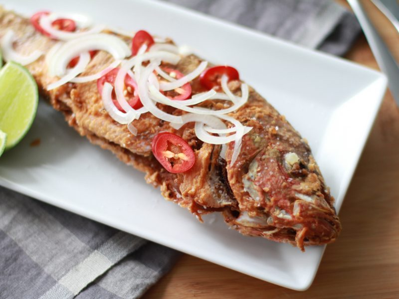 Andrew Zimmern's recipe for fried yellowtail snapper