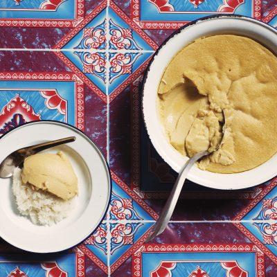 Khao Niaw Sankhaya Turian (sticky rice with durian custard) Pok Pok