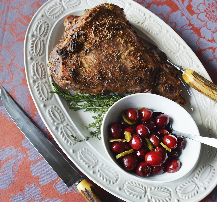 Lamb with Pickled Cherries