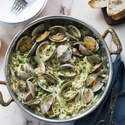Linguine with clams|Red Clam Sauce with Vermicelli