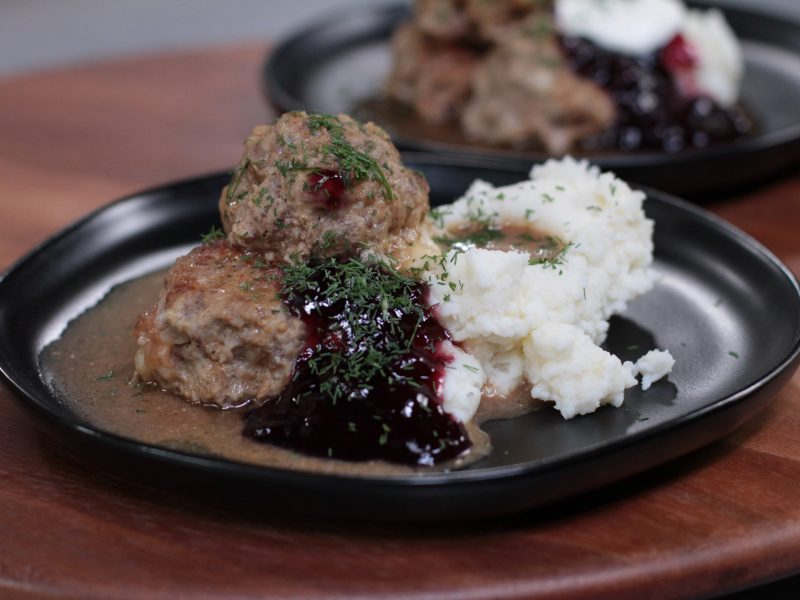 Andrew Zimmern's recipe for Swedish meatballs