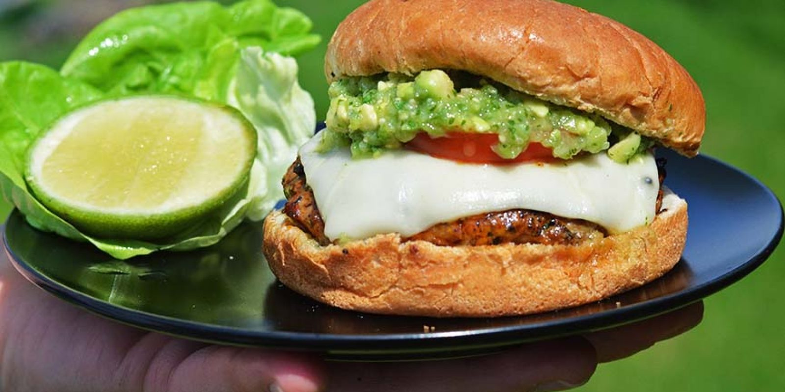Mexican Pork Burgers With Tomatillo Avocado Salsa Andrew Zimmern