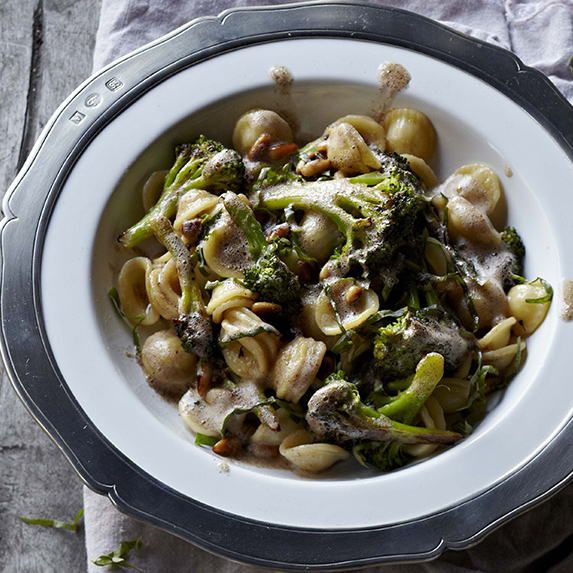 Orecchiette with Brown Butter, Broccoli, Pine Nuts & Basil