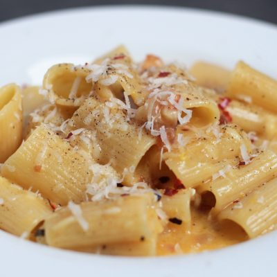 Andrew Zimmern's recipe for pasta carbonara