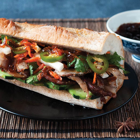 Porchetta Banh Mi with Fish Sauce Caramel