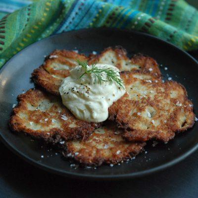 Andrew Zimmern's Potato Latkes