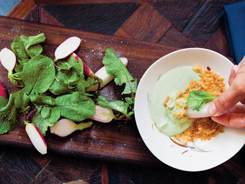 Radishes-Sorrel-Dip||Food & Beer