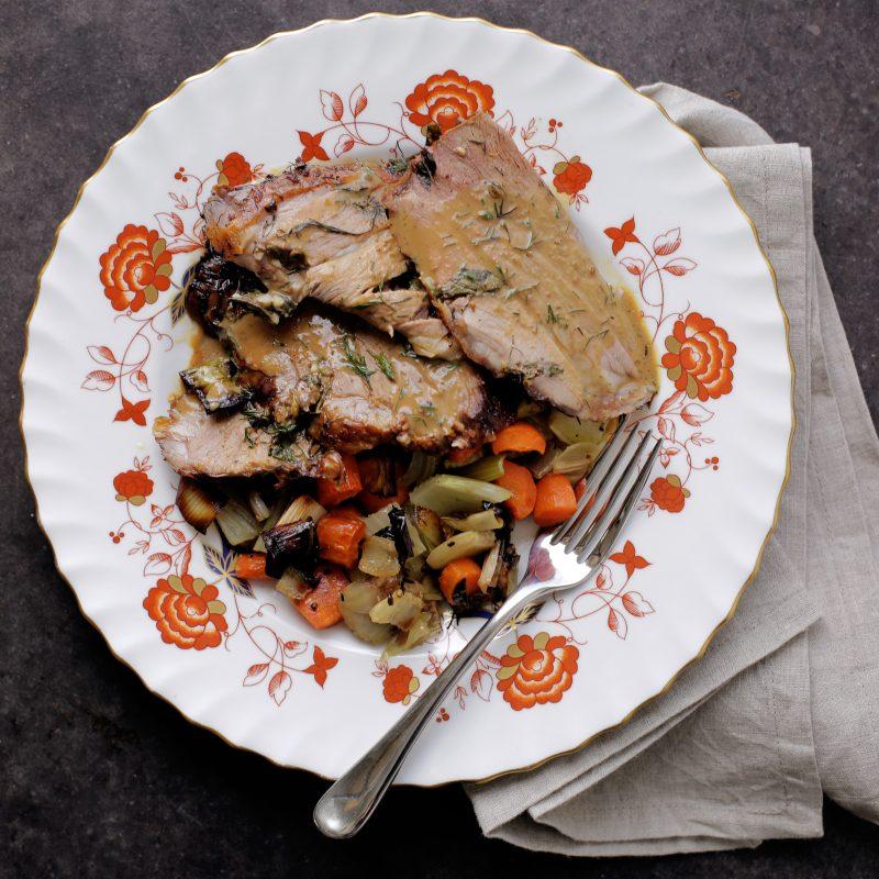 Andrew Zimmern's recipe for roast leg of lamb