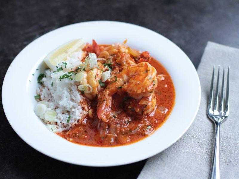 Andrew Zimmern's recipe for shrimp etouffee