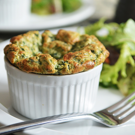Easy Spinach Souffles