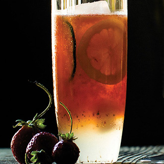 Strawberry-Cucumber Cocktail with Pimm's