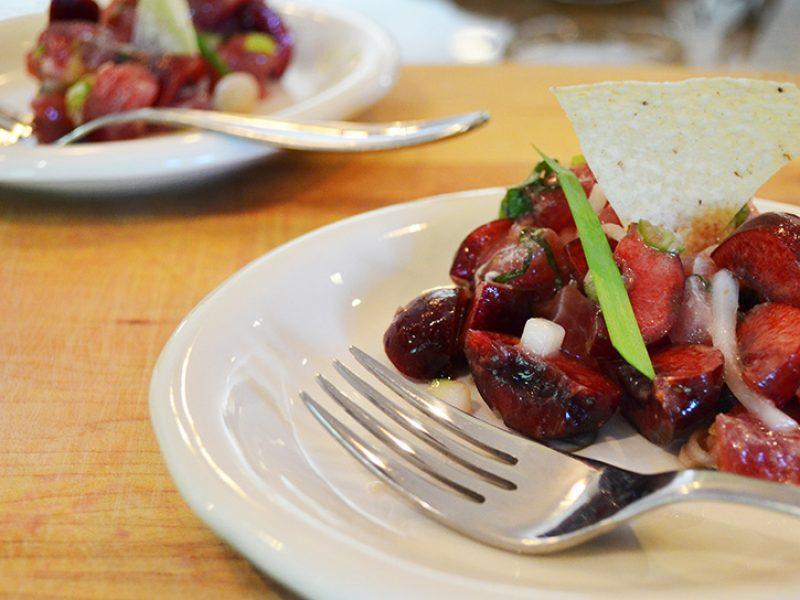 Tuna & Cherry Ceviche