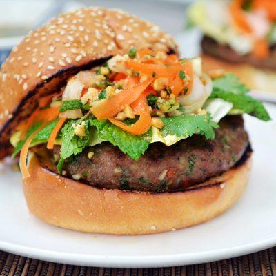  Vietnamese Pork Burger Vietnamese burger Vietnamese pork burger