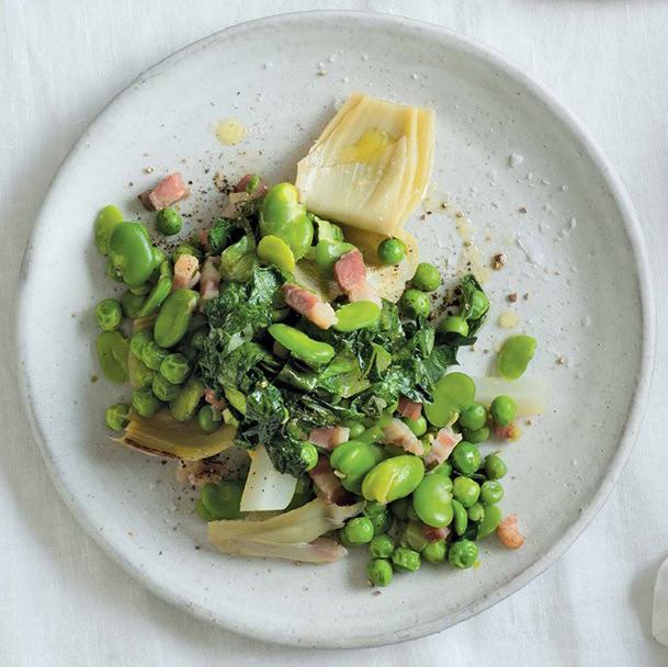 Artichoke, Peas, Fava & Lettuce Vignarola