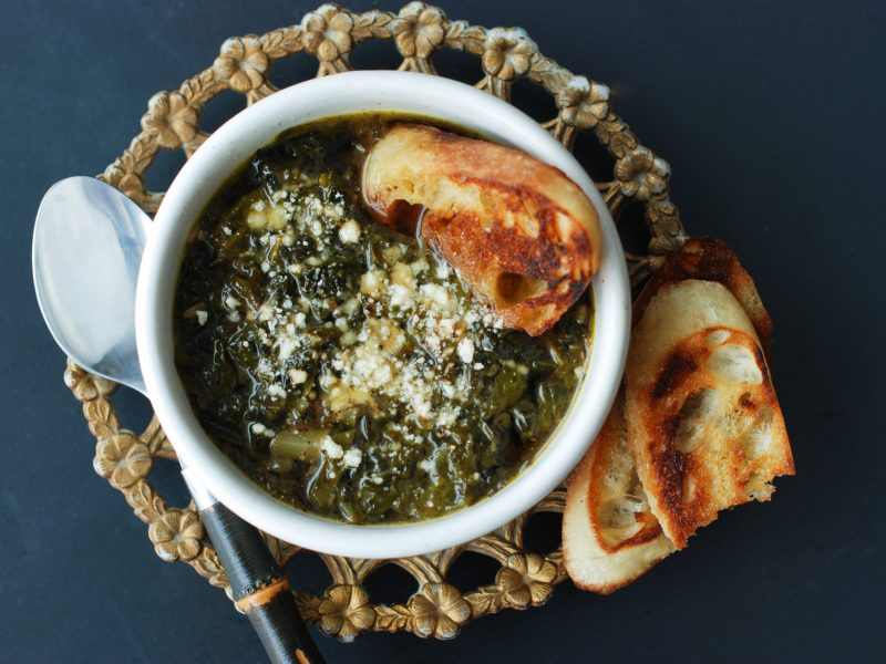 Andrew Zimmern's recipe for zuppa verde