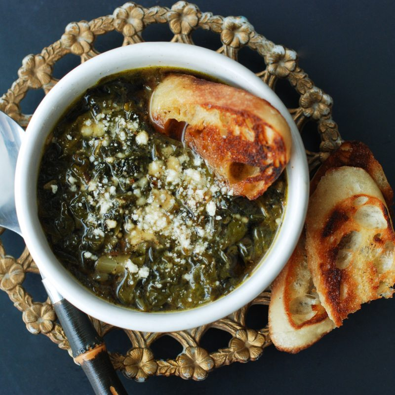 Andrew Zimmern's recipe for zuppa verde