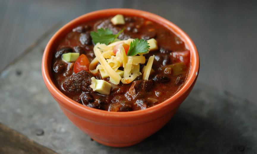 Pork & Black Bean Chili