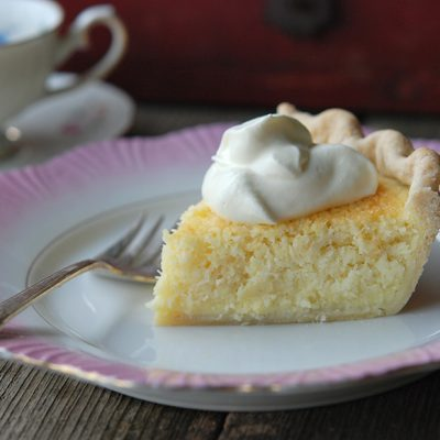 Andrew Zimmern's Coconut Custard Pie|Deep-Dish Peach Streusel Pie with Ginger
