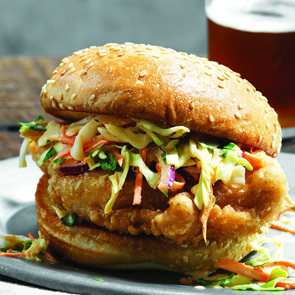 Beer Battered Fried Chicken Sandwich
