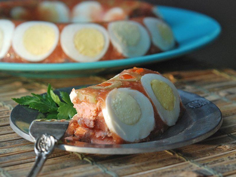 Salmon aspic