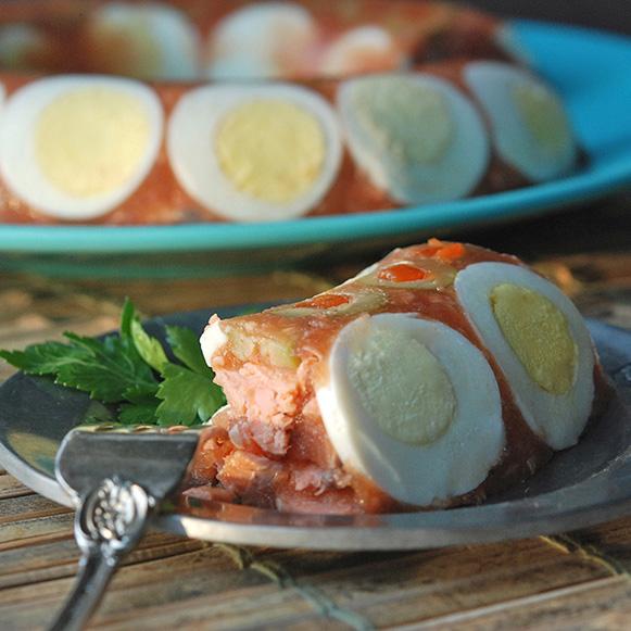 Salmon & Tomato Aspic